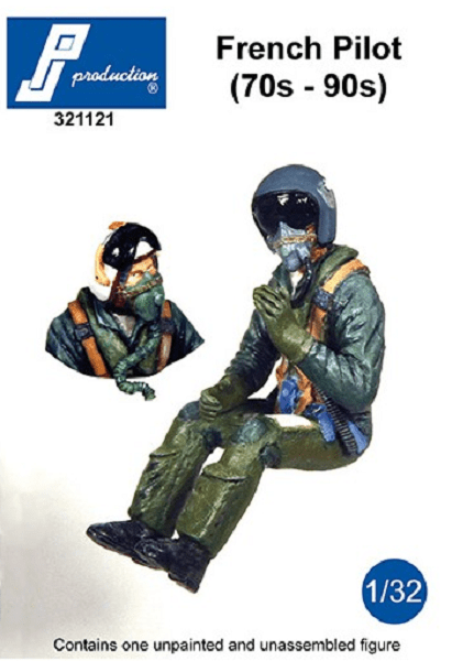 PJ Production 321121 1/32 French pilot seated in a/c (70s-90s) Resin Figure - SGS Model Store