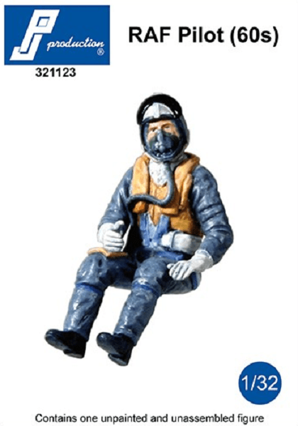 PJ Production 321123 1/32 RAF Pilot (60s) Resin Figure - SGS Model Store