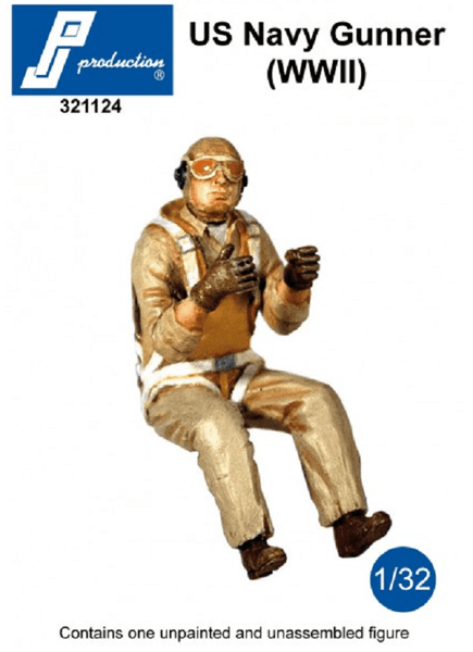PJ Production 321124 1/32 US Navy Gunner (WWII) Resin Figure - SGS Model Store