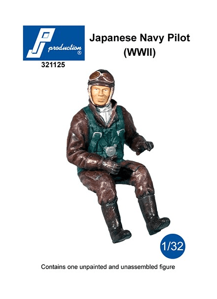 PJ Production 321125 1/32 Imperial Japanese Navy Pilot (WWII) Resin Figure - SGS Model Store