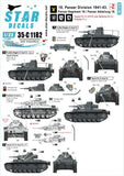 Star Decals 35-C1182 1/35 18. Panzer Division # 2 Model Decals - SGS Model Store