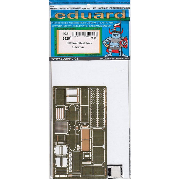 Eduard 35251 1/35 LRDG 30cwt Chevrolet Photo Etched Set for Tamiya