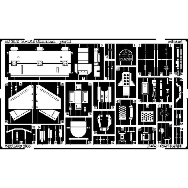 Eduard 35339 1/35 M4A1 Sherman Photo Etched Detail Set for Italeri