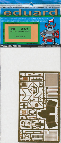 Eduard 35430 1/35 M113A1 Vietnam exterior Photo Etched Set for Academy - SGS Model Store