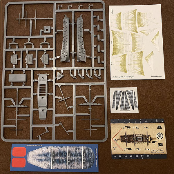 Warlord Games Black Seas 3rd Rate Sprue