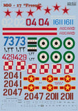 Print Scale 48-013 1/48 Mikoyan MiG-17 Fresco Part 1 Model Decals - SGS Model Store