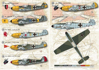 Print Scale 48-029 1/48 Messerschmitt Bf-109E Part 1 Model Decals - SGS Model Store