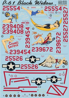 Print Scale 48-034 1/48 Northrop P-61 Black Widow Part 1 Model Decals - SGS Model Store