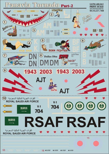 Print Scale 48-041 1/48 Panavia Tornado Part 2 Model Decals - SGS Model Store