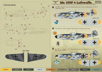 Print Scale 48-053 1/48 Messerschmitt Bf-109F-4 Part 2 Model Decals - SGS Model Store