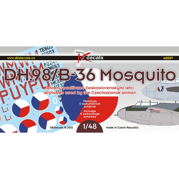 DK Decals 48007 DH.98/B-36 Mosquito 1/48