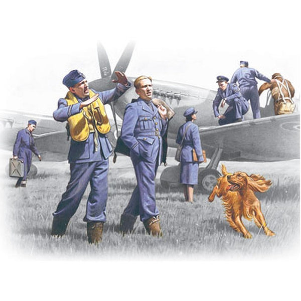 ICM 48081 1/48 RAF Pilots and Ground Personnel 1939-1945