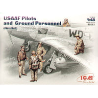 ICM 48083 1/48 WWII USAAF Pilots and Ground Personnel 1941-1945