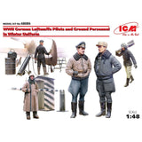 ICM 48086 1/48 WWII Luftwaffe Pilots and Ground Personnel in Winter Uniform