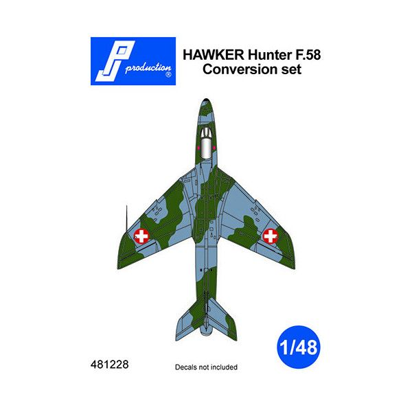 PJ Production 481228 1/48 Hawker Hunter F.58 Conversion Set - SGS Model Store