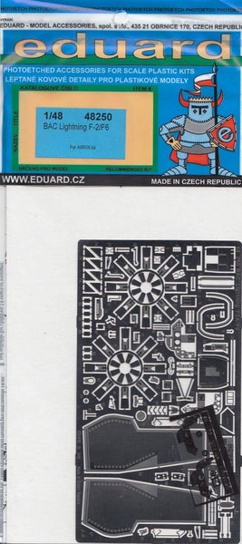 Eduard 48250 1/48 BAC/EE Lightning F.2 / F.6 P.E. Set for Airfix - SGS Model Store