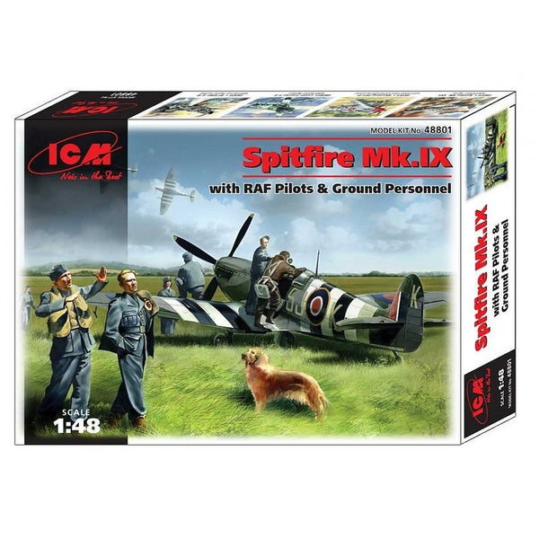 ICM 48801 1/48 Spitfire Mk.IX with RAF pilots & Ground Personal