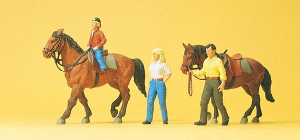 Preiser 10500 00/H0 Scale Horses & Riders Pk1 Model Railway Figures - SGS Model Store