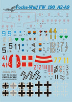 Print Scale 72-002 1/72 Focke-Wulf Fw-190A2 - A-9 Model Decals
