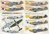 Print Scale 72-021 1/72 Messerschmitt Bf-109E Part 1 Model Decals