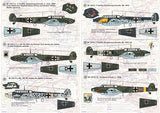 Print Scale 72-035 1/72 Messerschmitt Bf-110 Model Decals