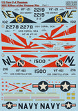 Print Scale 72-058 1/72 U.S. Navy F-4 Phantom Mig Killers Part 1 Model Decals