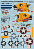 Print Scale 72-060 1/72 Consolidated B-24 Liberator Model Decals