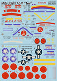 Print Scale 72-068 1/72 Mitsubishi A6M 'Zero' Model Decals