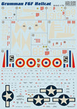 Print Scale 72-094 1/72 Grumman F6F Hellcat Model Decals