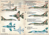 Print Scale 72-364 1/72 Genera-Dynamics F-16A Fighting Falcon Model Decals - SGS Model Store