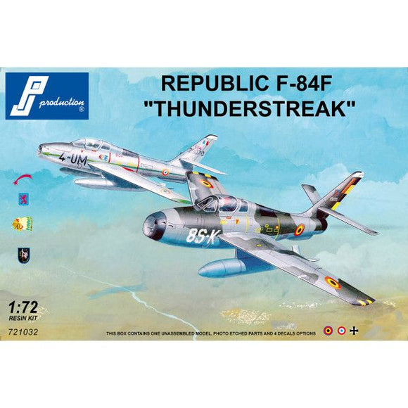 PJ Production 721032 1/72 Republic F-84F Thunderstreak Model Kit - SGS Model Store