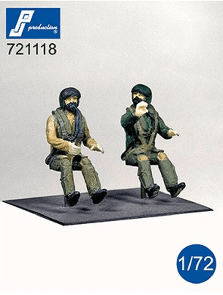 PJ Production 721118 1/72 Modern RAF pilots seated in aircraft Resin Figures - SGS Model Store