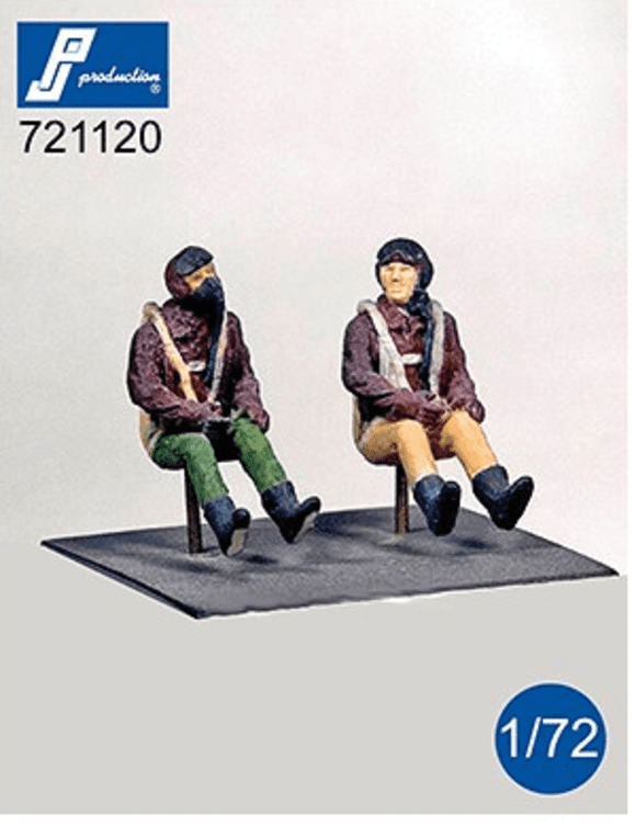 PJ Production 721120 1/72 US pilots WWII seated in aircraft Resin Figures - SGS Model Store