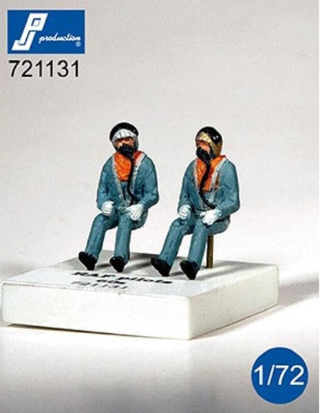 PJ Production 721131 1/72 RAF pilots seated in aircraft 1960's Resin Figures - SGS Model Store