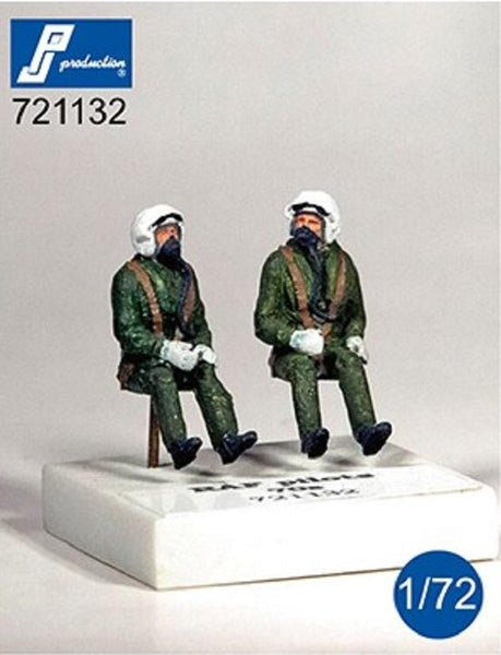 PJ Production 721132 1/72 RAF pilots seated in aircraft 1970's Resin Figures - SGS Model Store