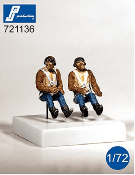 PJ Production 721136 1/72 WWII RAF pilots seated in aircraft Resin Figures - SGS Model Store