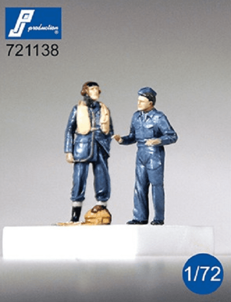 PJ Production 721138 1/72 RAF Pilot & Mechanic (WWII) Resin Figures - SGS Model Store