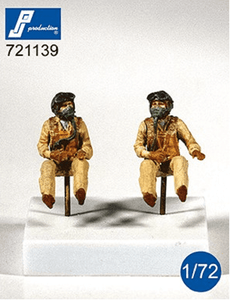 PJ Production 721139 1/72 US Navy Pilots seated in aircraft 1950's Resin Figures - SGS Model Store