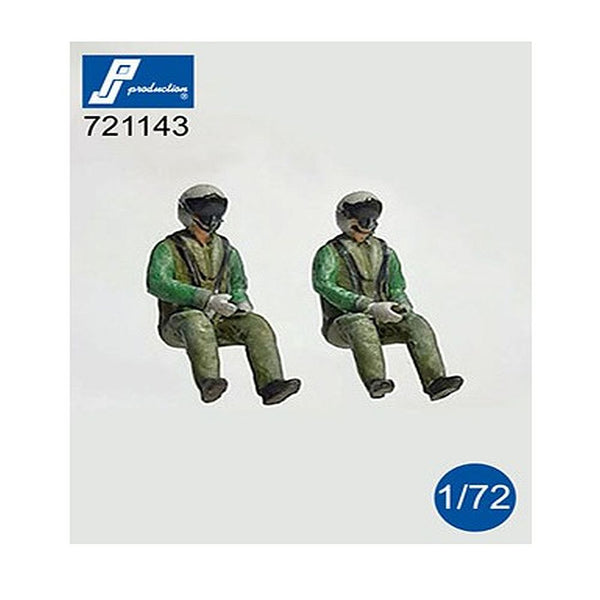 PJ Production 721143 1/72 Eurofighter Pilots seated Resin Figures