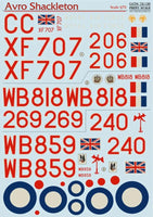 Print Scale 72-130 1/72 Avro Shackleton Model Decals