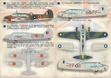 Print Scale 72-156 1/72 Avro Anson Model Decals