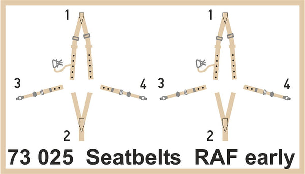Eduard 73025 1/72 Seatbelts RAF early Super Fabric - SGS Model Store