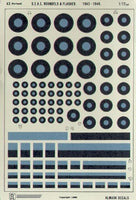 Almark A3 1/72 SEAC Roundels and Fin Flashes Model Decals - SGS Model Store