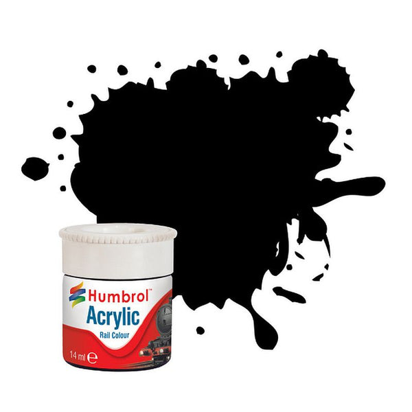 Humbrol AB2401 Dirty Black Railway Acrylic Paint (14ml)