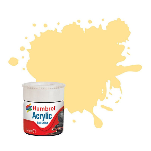 Humbrol AB2419 EWS Yellow Railway Acrylic Paint (14ml)