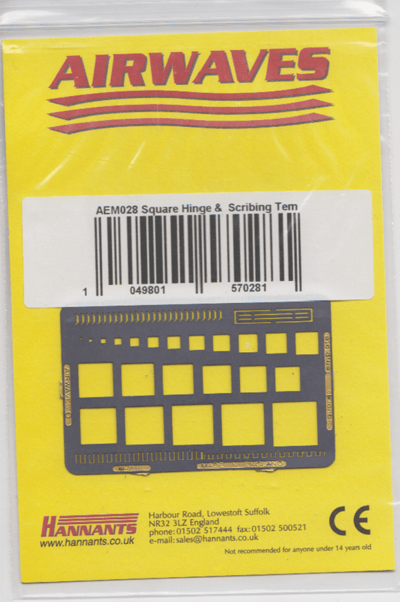 Airwaves AEM028 Square, Hinge and Scribing Template - SGS Model Store