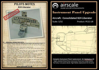 Airscale PE32LIB 1/32 Hobby Boss B24 Liberator Instrument Panel Upgrade - SGS Model Store