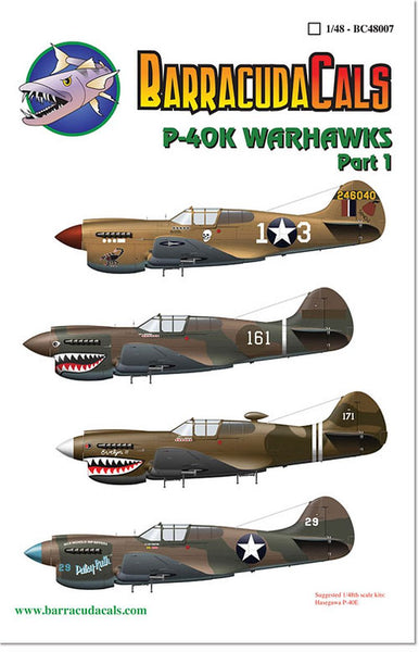 BarracudaStudios BC48007 1/48 P-40K Warhawks Part 1 Decals