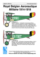 Blue Rider BR513 1/48 Belgian Air Force 1914-1918 Decals