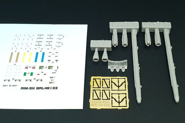 Brengun BRL48133 1/48 AIM-9X Sidewinder Resin Detail Set